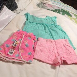Garanimals 2T shirt, shorts , nwt shorts